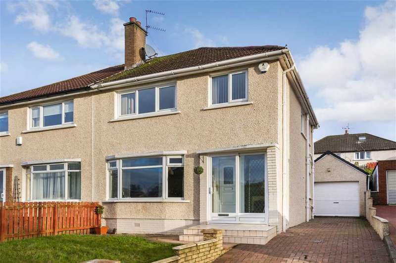 3 Bedrooms Semi Detached House for sale in Larchfield Drive, High Burnside, GLASGOW