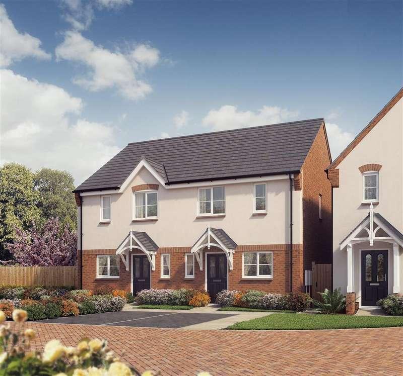 3 Bedrooms Semi Detached House for sale in Plot 20, The Carrington, Saxon Grove, Sundorne, Shrewsbury, SY1 3RG