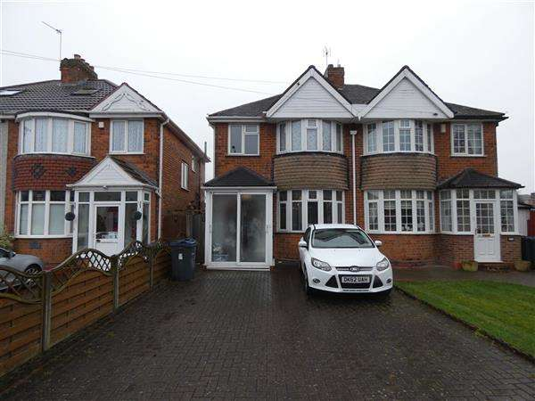 3 Bedrooms Semi Detached House for rent in Moat Lane, Yardley, Birmingham