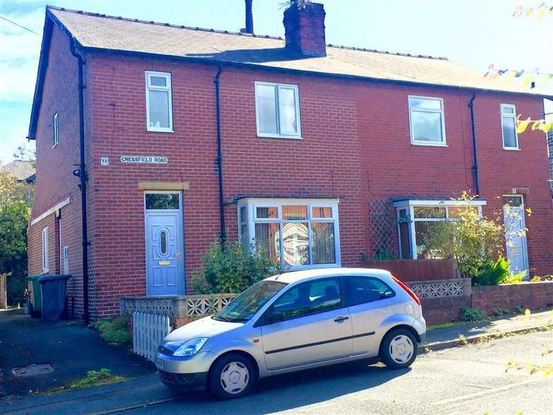 3 Bedrooms Semi Detached House for sale in Cressfield Road, Lindley, Huddersfield, HD3