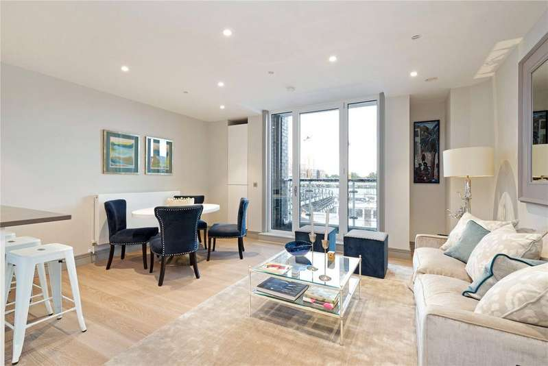 2 Bedrooms Flat for sale in Calico House, Plantation Wharf, Battersea, London, SW11
