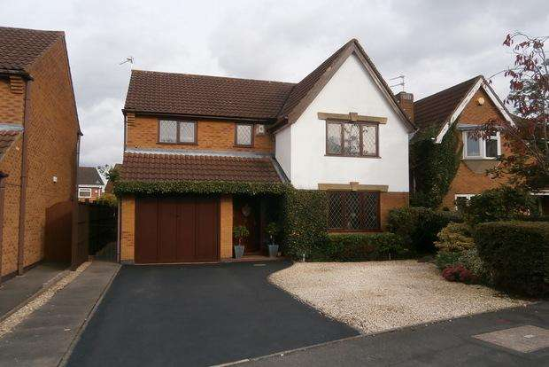 4 Bedrooms Detached House for sale in Lark Close, Leicester Forest East, Leicester, LE3