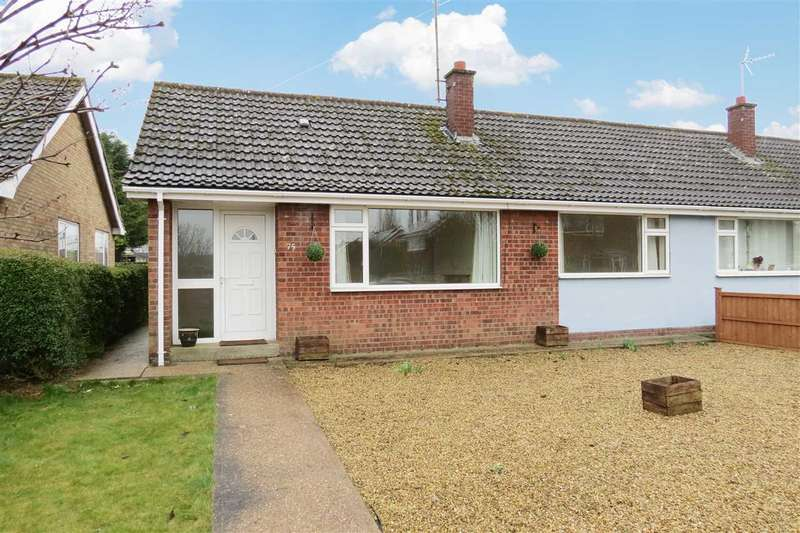 2 Bedrooms Semi Detached Bungalow for sale in Meadowfield, Sleaford