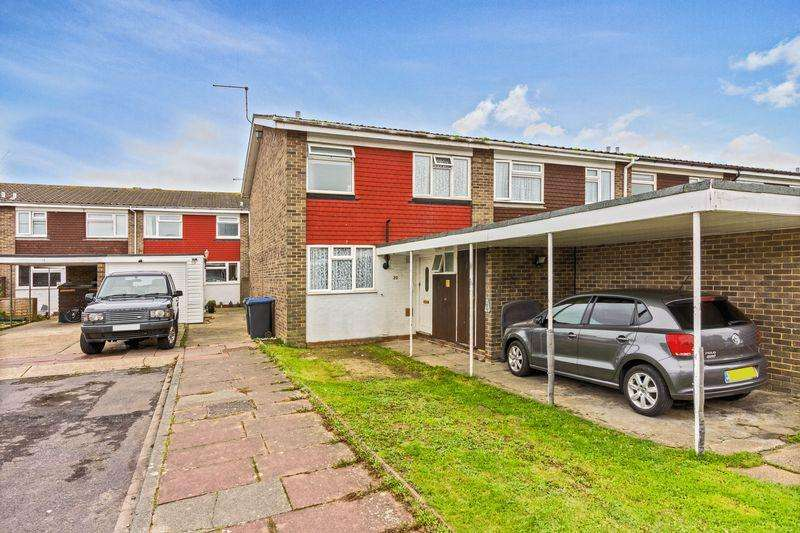 3 Bedrooms End Of Terrace House for sale in Radnor Close, Worthing