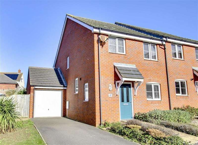 3 Bedrooms Semi Detached House for sale in Coxwell Close, Seaford