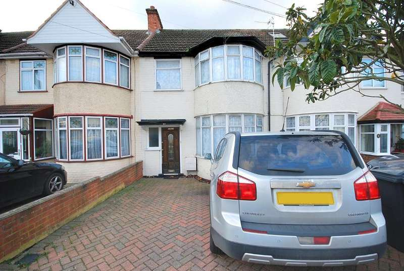 3 Bedrooms Terraced House for sale in BURNSIDE CRESCENT, WEMBLEY, MIDDLESEX, HA0 1BJ