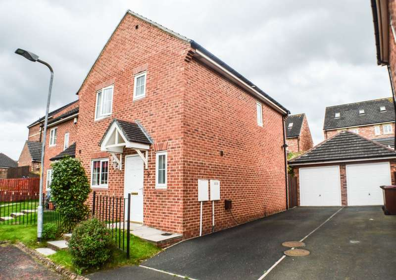 3 Bedrooms Semi Detached House for sale in Saint Oswalds Court, Prudhoe, NE42
