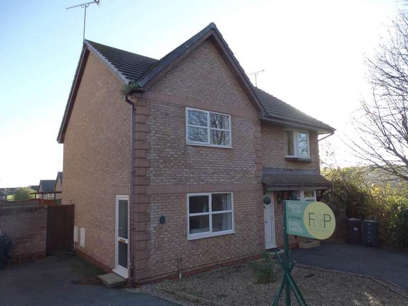 2 Bedrooms Semi Detached House for sale in 9 Conolly Close, Penrhyn Bay, LL30 3FP