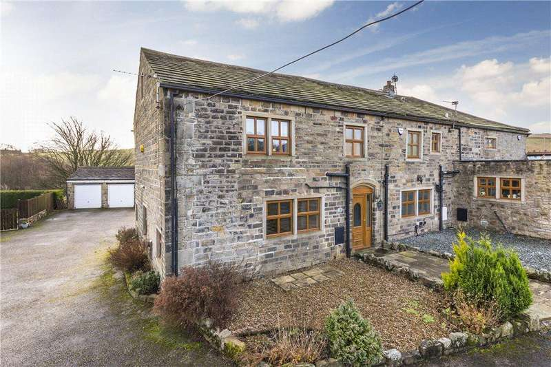 4 Bedrooms Barn Conversion Character Property for sale in Hollin Hall Farm, Long Causeway, Denholme