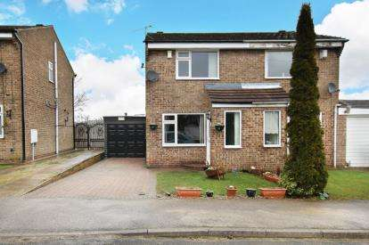 2 Bedrooms Semi Detached House for sale in Landseer Court, Flanderwell, Rotherham, South Yorkshire