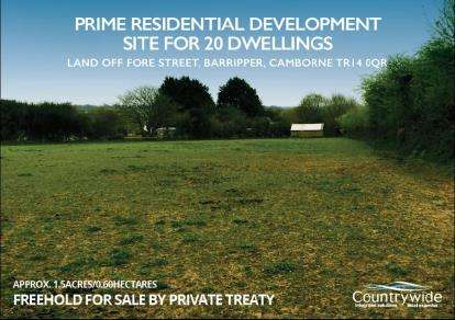 Land Commercial for sale in Cornwall