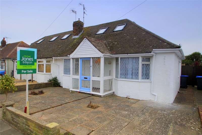 3 Bedrooms Semi Detached Bungalow for sale in Pratton Avenue, Lancing, West Sussex, BN15