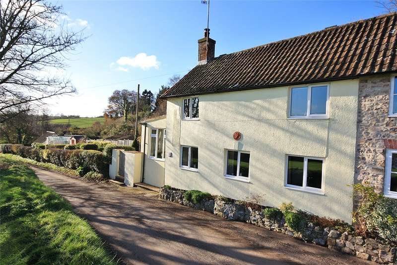 3 Bedrooms Semi Detached House for sale in Combewood Cottages, Combe Wood, Combe St. Nicholas, Chard, TA20