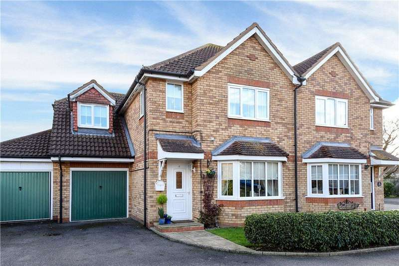 4 Bedrooms Semi Detached House for sale in Elder Close, Beeston, Sandy, Bedfordshire