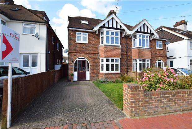 5 Bedrooms Semi Detached House for sale in East Cliff Road, TUNBRIDGE WELLS, Kent, TN4 9AG