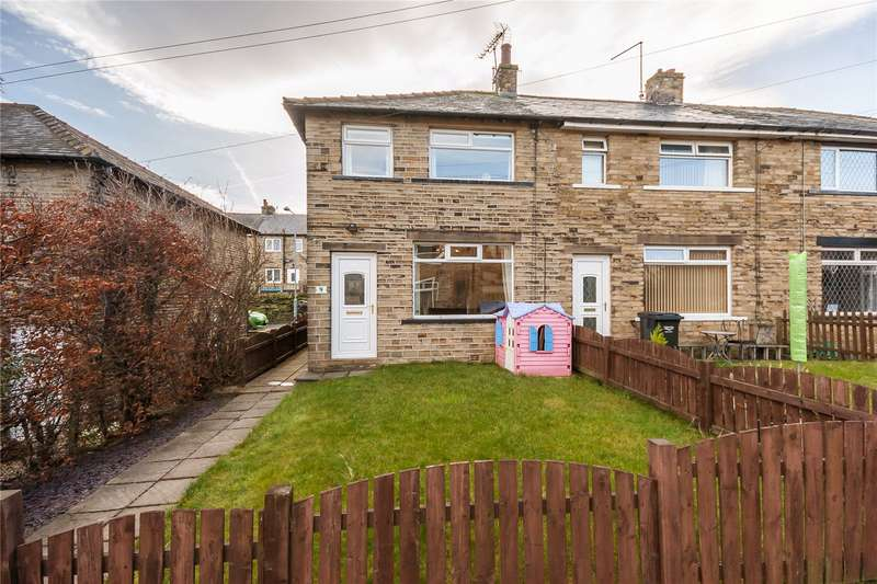 3 Bedrooms End Of Terrace House for sale in Hill Crescent, Southowram, HALIFAX, West Yorkshire, HX3
