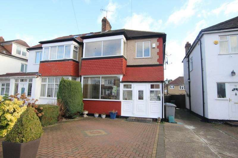 3 Bedrooms Semi Detached House for sale in Second Avenue, South Kenton Area, HA9 8QF