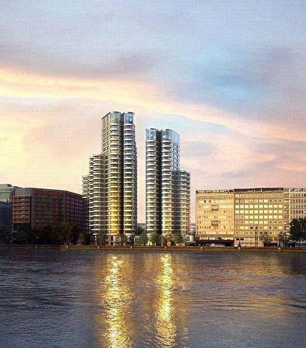 3 Bedrooms Flat for sale in The Corniche, Tower 2, Albert Embankment, London, SE1