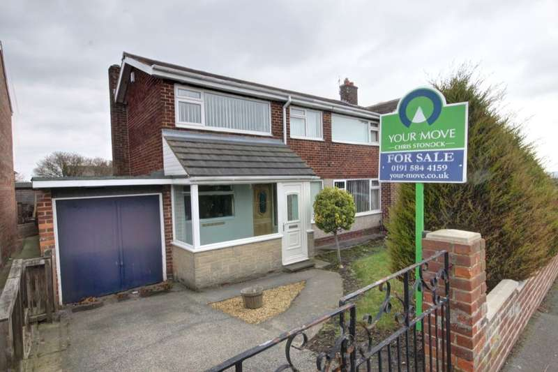 3 Bedrooms Semi Detached House for sale in Whitefield Crescent, Houghton Le Spring, DH4