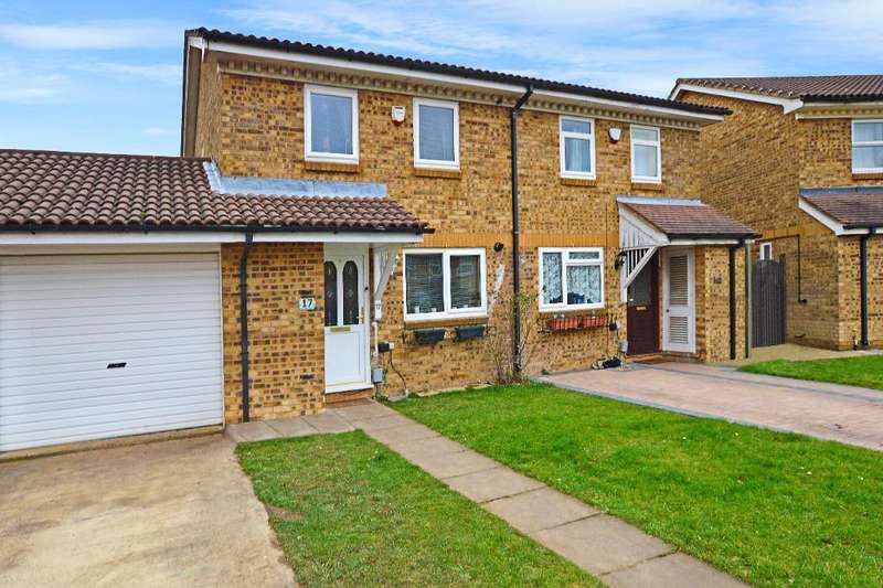 3 Bedrooms Semi Detached House for sale in Rushall Green, Wigmore, Luton, LU2 8TL