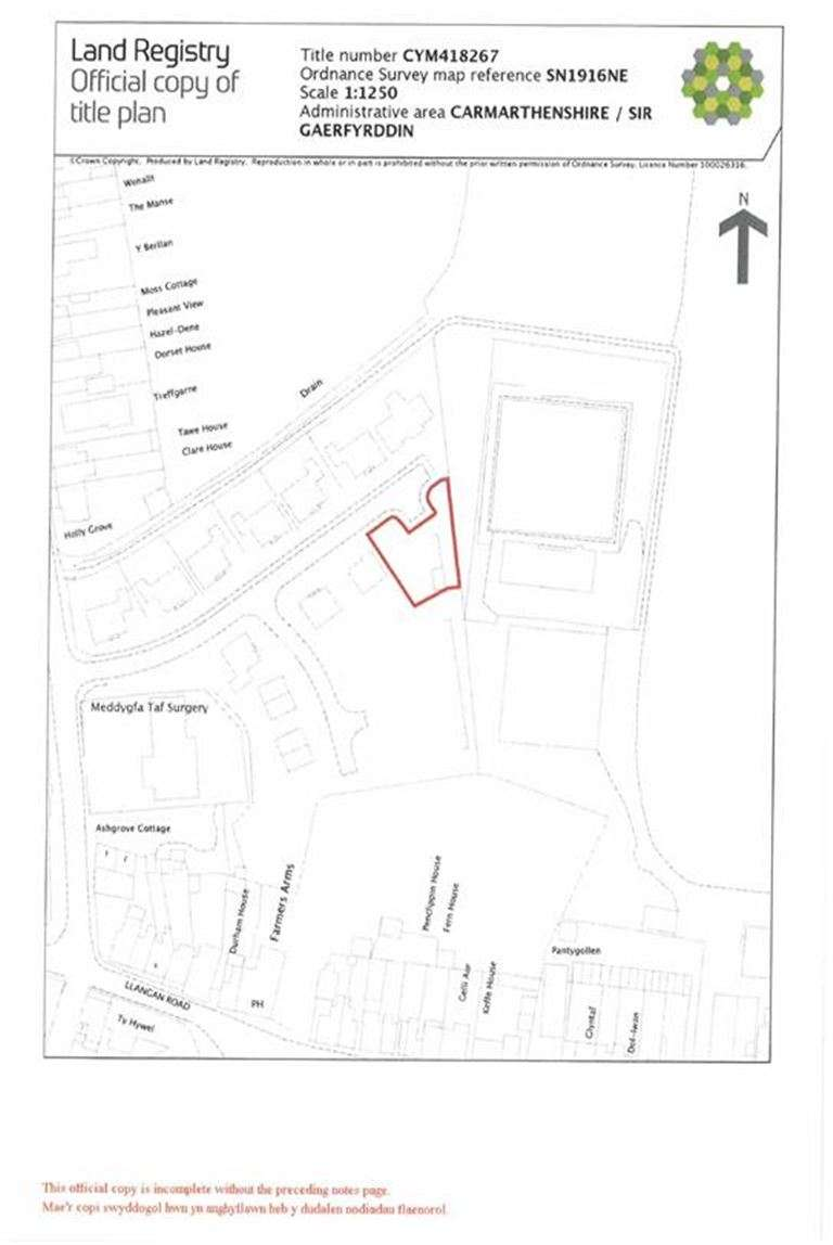 Land Commercial for sale in Llys Y Brenin, Whitland, Carmarthenshire