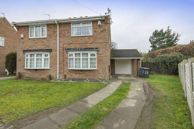 2 Bedrooms Semi Detached House for sale in THRUXTON CLOSE, ALVASTON
