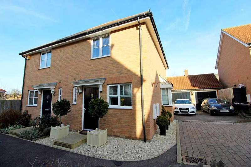 2 Bedrooms Semi Detached House for sale in Chaplin Mews, Witham, Essex, CM8