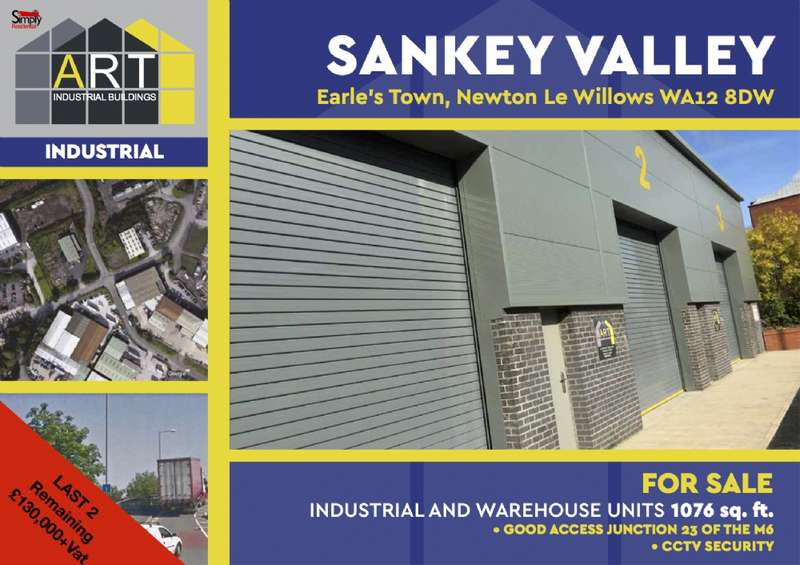 Commercial Property for sale in PLOT 3 Industrial unit for sale at Unit 3 Sankey Vally Industrial Estate Earlstown St Hele