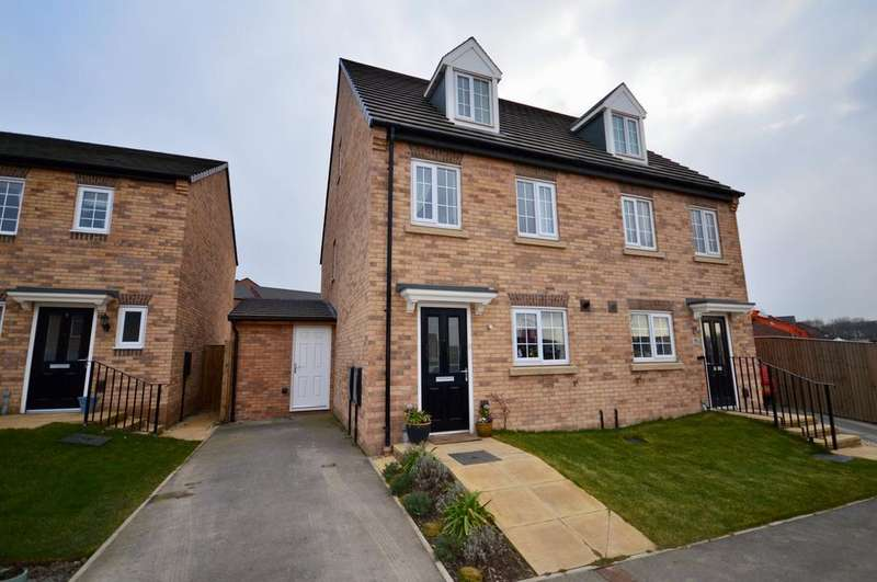 3 Bedrooms Semi Detached House for sale in Micklewait Avenue, Crigglestone, Wakefield, West Yorkshire