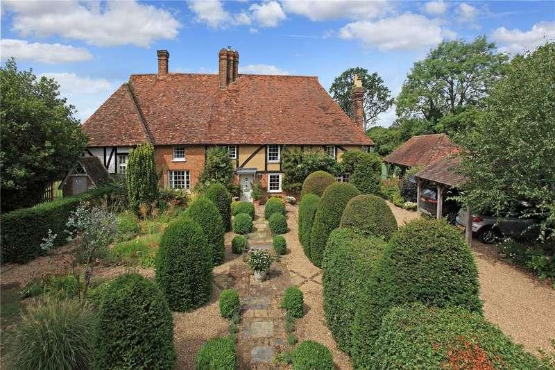 5 Bedrooms Semi Detached House for sale in Upper Green Road, Shipbourne, Tonbridge, Kent, TN11