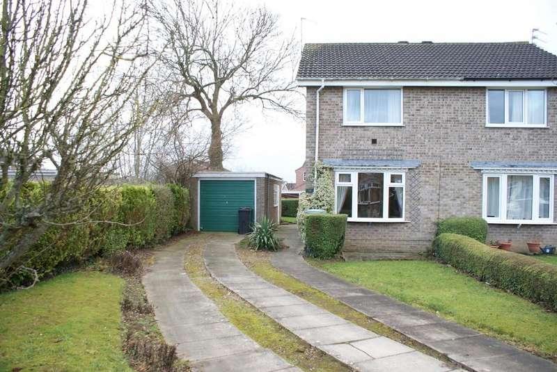 2 Bedrooms Semi Detached House for sale in Rye Close, Wigginton, York, YO32 2TX