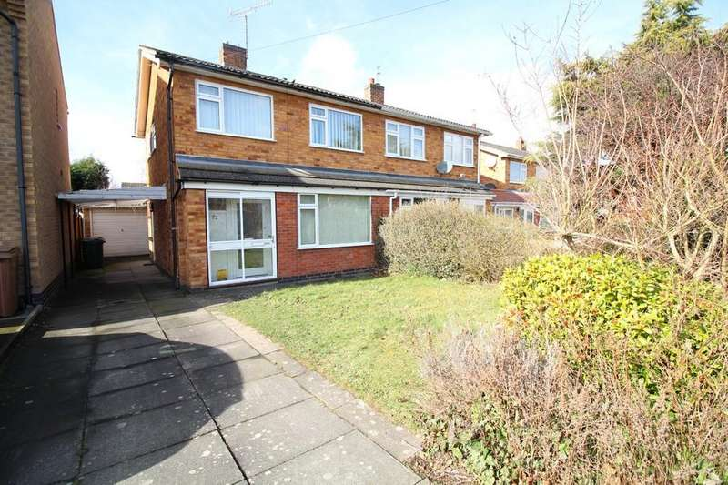 3 Bedrooms Semi Detached House for sale in Thirlmere Drive, Loughborough