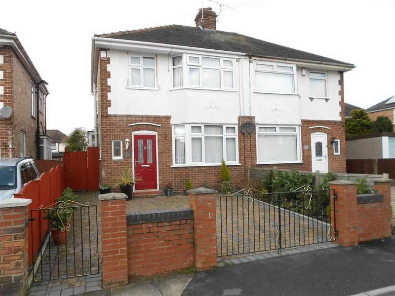3 Bedrooms Semi Detached House for sale in Newfield Drive, Crewe, Cheshire