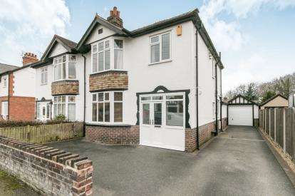 3 Bedrooms Semi Detached House for sale in Woodlands Road, Marford, Wrexham, Wrecsam, LL12
