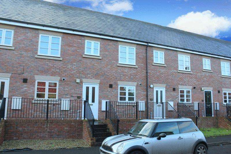 3 Bedrooms Terraced House for sale in Glendower Court, Greenfields, Shrewsbury, SY1 3RG
