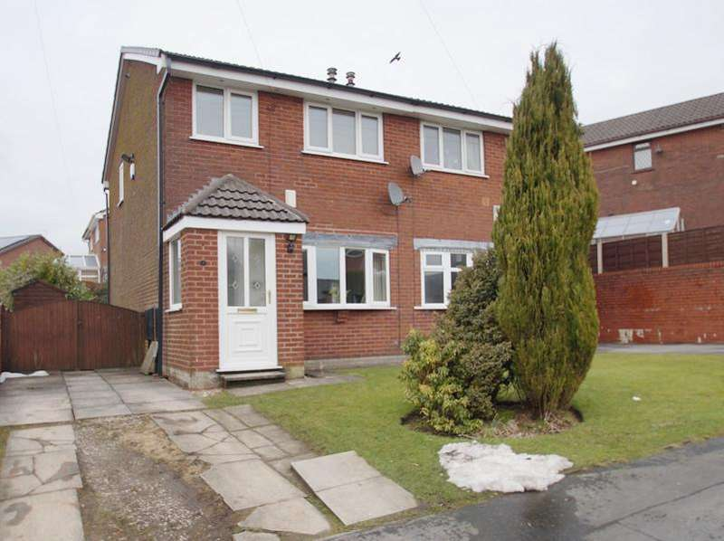 3 Bedrooms Semi Detached House for sale in Clipsley Crescent, Moorside OL4