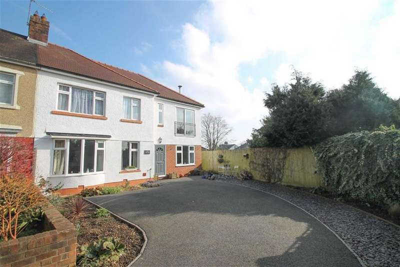 4 Bedrooms Semi Detached House for sale in Porthamal Gardens, Rhiwbina, Cardiff