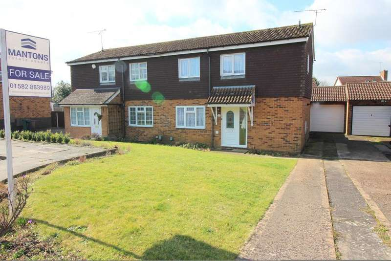 3 Bedrooms Semi Detached House for sale in Shanklin Close, Luton, Bedfordshire, LU3 3UH