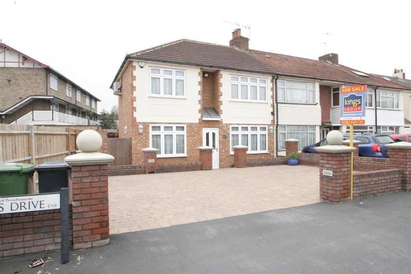 4 Bedrooms End Of Terrace House for sale in Queens Drive, Waltham Cross, Herts, EN8