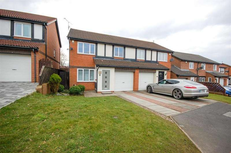 3 Bedrooms Semi Detached House for sale in Perrycrofts, Thristley Woods, Sunderland