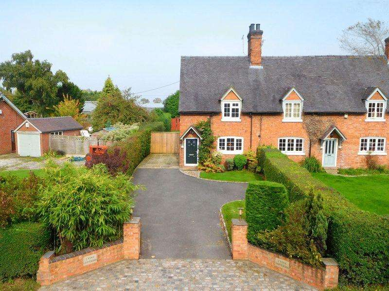 3 Bedrooms Semi Detached House for sale in Wrexham Road, Burland, Nantwich