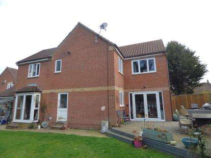 4 Bedrooms Detached House for sale in Liberty Drive, Duston, Northampton, Northamptonshire