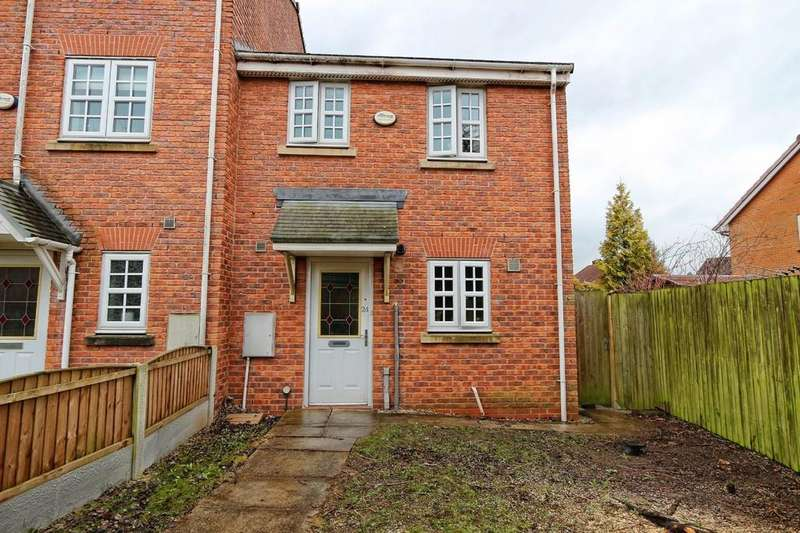 3 Bedrooms End Of Terrace House for sale in 24 Glenmuir Close, Irlam, Manchester