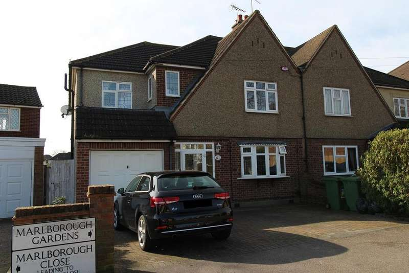 5 Bedrooms Semi Detached House for sale in Marlborough Gardens, Upminster, Essex, RM14