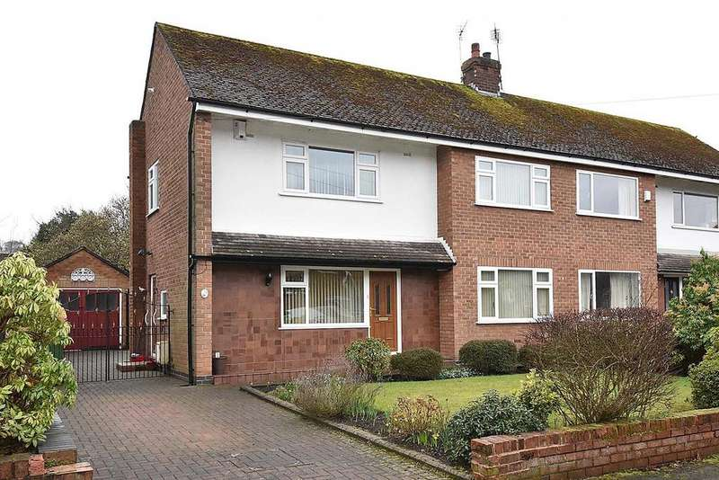 3 Bedrooms Semi Detached House for sale in Hillfoot Crescent, Stockton Heath