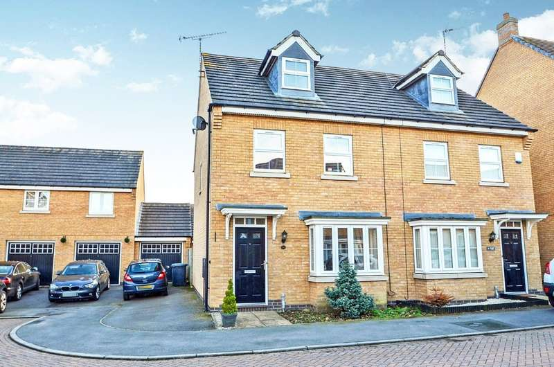 3 Bedrooms Town House for sale in Spellow Close, Coton Park, Rugby