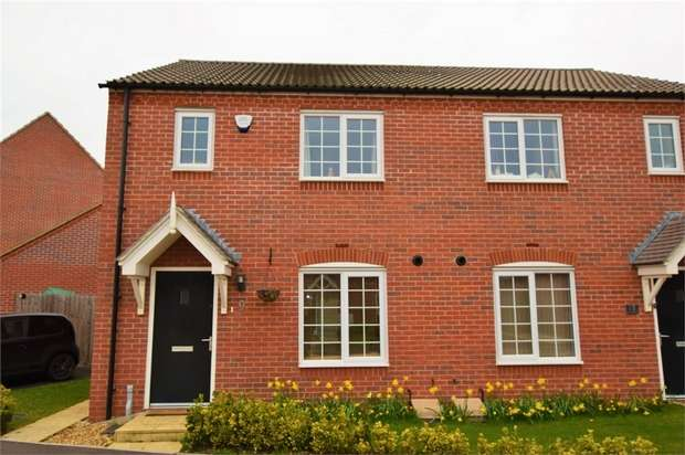 3 Bedrooms Semi Detached House for sale in The Furrows, Moulton, NORTHAMPTON