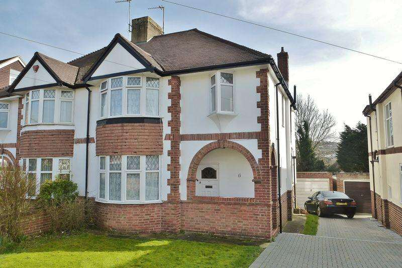 4 Bedrooms Semi Detached House for sale in Stoneleigh Avenue, Patcham, Brighton,