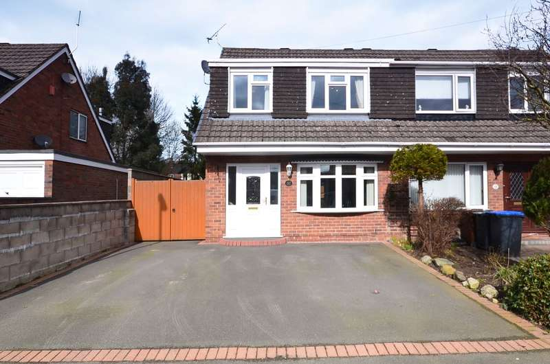 3 Bedrooms Semi Detached House for sale in Elmwood Drive, Blythe Bridge, ST11 9NY