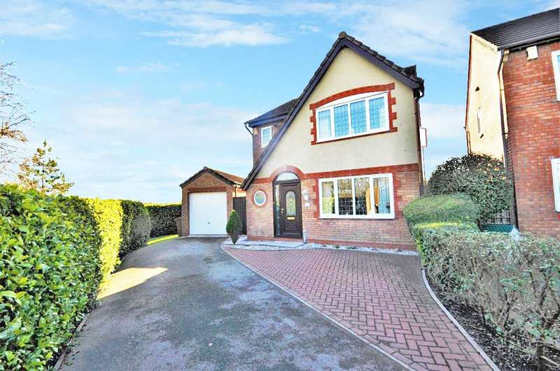 3 Bedrooms Detached House for sale in Folkestone Close, Warton, Preston, Lancashire, PR4 1YY
